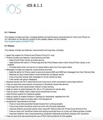 Masalah Wi-Fi Tetap Tak Terpecahkan di Update iOS8.1.1