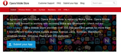 Opera Mobile Store Jadi Apps Store Bawaan Gantikan NokiaStore